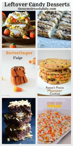 Leftover Candy Desserts! These are perfect for after Halloween when you didn't have enough trick-or-treaters!