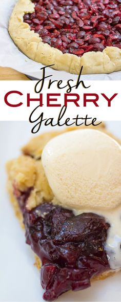 Fresh Cherry Galette I www.orwhateveryoudo.com I #cherry #galette #dessert
