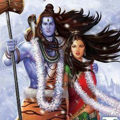 Shiva and Shakti Shiva Art, Krishna Art, Hindu Art, Shiva Parvati Images, Shiva Shakti, Wicca, Lord Shiva Hd Wallpaper, Lord Shiva Family, Lord Murugan