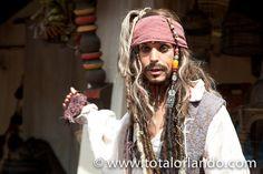 Captain Jack Sparrow Pirates of the Caribbean  http://www.totalorlando.com