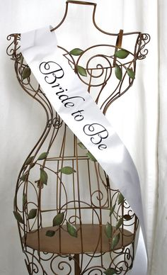Elegant Bride to Be Sash - Choose Your Colors We should get something like this for emily's bachelorette party and/or her bridal shower.