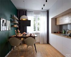 Ideas For Bedroom Furniture Makeover Rustic Kitchen Room Design, Home Decor Kitchen, Kitchen Furniture, Home Furniture, Furniture Projects, Diy Apartment Decor, Apartment Kitchen, Small Space Interior Design, Interior Design Living Room