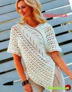 Patrón #1369: Blusa a Dos Agujas   CTejidas [Crochet y Dos Agujas]