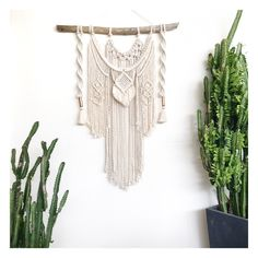 Macrame wall Hanging Majestic Jewel Large with Copper Tassels
