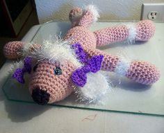 "Sweet Little Pink Poodle 15"" tall"