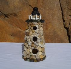 Handmade Lighthouse Birdhouse