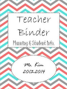 Free editable teacher binder.