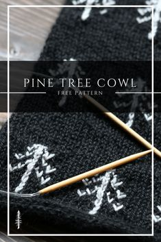 Free knitting pattern: The Pine Tree Cowl