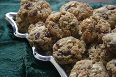 Oatmeal white chocolate cranberry cookies    Recipe at http://www.sharonstrands.com/yule-love-these-cookies
