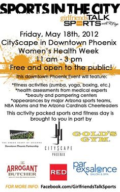 Sports in the City - Friday, May 18, at CityScape!