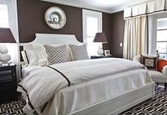 OK, maybe not for beach house...but yummy!  Headboards and other alternatives Interior Designer in Charlotte - Interior Decorator - Laura Casey Interiors