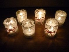 Lace Decorative Candles