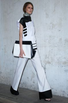 After all the rivers of colour being shed in the Fashion world last year, the black and white combo is back! Celine-resort-2013