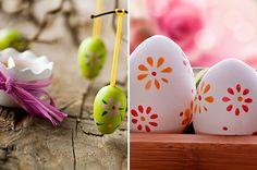 Como pintar os ovos para Páscoa. Como fazer a decoração dos ovos de Páscoa. Ovinhos pintados com tinta e decorados com glitter. Decoração cr...