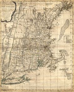 New England Colonial Map