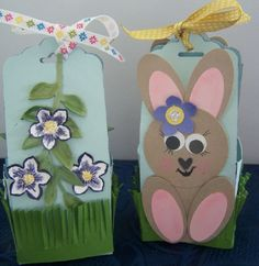Cute for Easter Punch, Tag Punch Easter Egg Casket.   Will hold one Kinder Surpise size Egg and maybe a little tiny one or two.