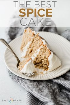 The BEST Spice Cake ever This cake is moist and spiced to perfection It s topped with a silky smooth cream cheese frosting saltandbaker spicecake creamcheesefrosting layeredcake via saltandbaker