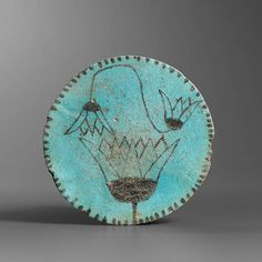 egyptian faience plate with lotuses end of new kingdom third intermediate period late - Faience Colore