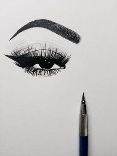 Maquiagem desenhada