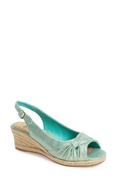 BELLA VITA 'Sangria Too' Slingback Espadrille Sandal textile seamist/gold, blue/multi, red, black 1.75h sz7.5 69.95