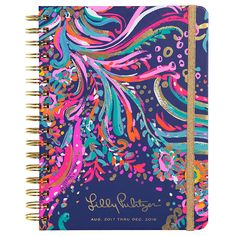 Lilly Pulitzer 2017-2018 17 Month Large Agenda in Beach Loot