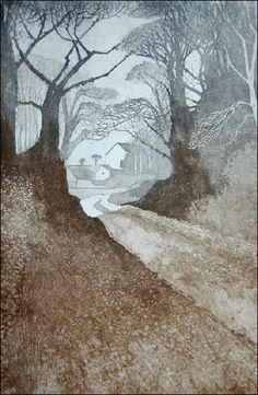 'Lane, Briston, Winter' by Colin Bygrave, c. 2000
