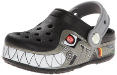 crocs CrocsLights Robo Shark PS Clog (Toddler/Little Kid),Black/Silver,1 M US Little Kid crocs