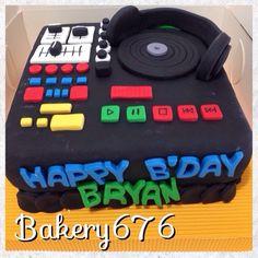 Dj cake Hombres / niños Men / kids  Pastel / cupcakes / cake Bakery 676