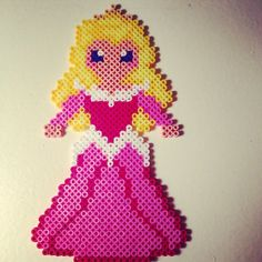 Disney Aurora Sleeping Beauty hama perler beads by pagey163