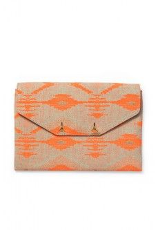 City Slim Clutch - Aztec Coral, on sale for $27.56!