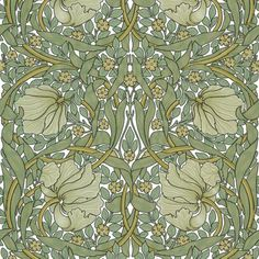 William Morris ~ Pimpernel ~ Original on White  fabric by peacoquettedesigns on Spoonflower - custom fabric