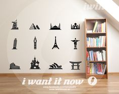 World Landmarks Wall Decals – i want it now