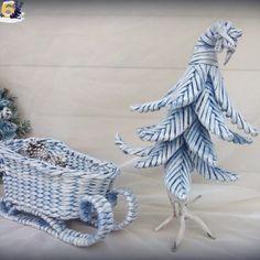 Плетеные новогодние сани - Каталог рукоделия #44695