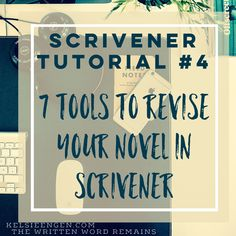 As part of my ongoing Scrivener Tutorial series, we've reached number Previously I've discussed how to Create a New Document and Work with Scenes, Making Document Goals, and Cool Too… Writing Poetry, Fiction Writing, Writing Help, Writing A Book, Writing Tips, Writing Prompts, Writing Websites, Writing Software, Editing Writing