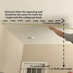 How To Install A Ring And Hook Game - Intelligent Domestications How To Install A Ring and Hook Garage Game.How to measure the distance on the ceiling for the eye h Outdoor Yard Games, Diy Yard Games, Backyard Games, Outdoor Fun, Outdoor Ideas, Backyard Ideas, Garage Game Rooms, Game Room Basement, Hook Game