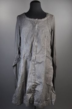 Rundholz Dip long sleeve dress - grey