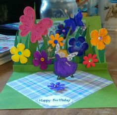 Another view of the pop up card.