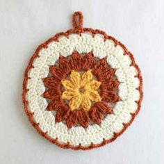 Best Free Crochet » Free Crochet Pattern Strawflower Potholder #38
