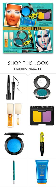 """""""Turn Around, Bright Eyes"""" by jelenalazarevicpo ❤ liked on Polyvore featuring beauty, MAKE UP FOR EVER, Clarins, NARS Cosmetics, L'Oréal Paris, Urban Decay, Shiseido, brighteyes, beebeely and nobility99"""