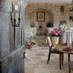 Lovely cosy stone cottage kitchen