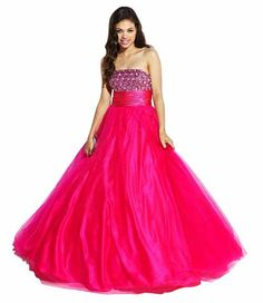 523126ee73612 under 200 Fuchsia junior plus size ball gown formal poofy prom homecoming  dresses plus