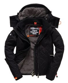 Shop Superdry Womens Hooded Sherpa Quilted Windcheater Jacket in Black. Buy  now with free delivery from the Official Superdry Store.