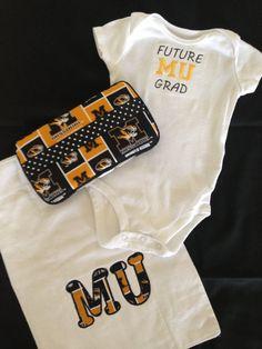MU or cardinal's baby gift set by FabulousBagsBowsMore on Etsy