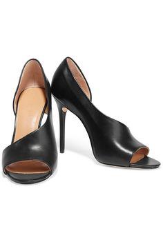 Halston HeritageLynn cutout leather sandalsfront