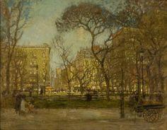 ART & ARTISTS: Paul Cornoyer - part 1 Madison Square oil on canvas 66 x 81 cm