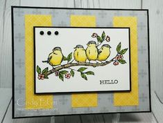 CCM Saturday Blog Hop - In the Sky Bird Cards, Daffodils, Things To Come, Clouds, Sky, Blog, Catalog, Free, Heaven