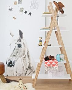 The Tipi Bookcase is a fun and quirky way to keep rooms tidy. Styled in the shape of an Indian TeePee the shelves feature a natural pine frame with white MDF shelves. A perfect stylish bookshelf to fit in any room, especially an explorer themed rooms. Childrens Storage Furniture, Childrens Bookcase, Childrens Beds, Kids Furniture, Bedroom Themes, Kids Bedroom, Cabin Beds For Kids, Pine Bookcase, Bookcase White