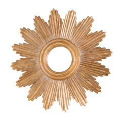 Worlds Away Ludwig Gold Leafed Mirror
