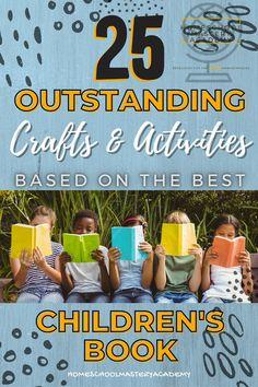 We have a craft for all of your favorite children's books! You are sure to love these ideas. #homeschool #craftsforkids #kidsbooks #booklist #kidscrafts