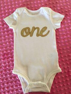 First birthday onesie by BabyRuthBoutique on Etsy